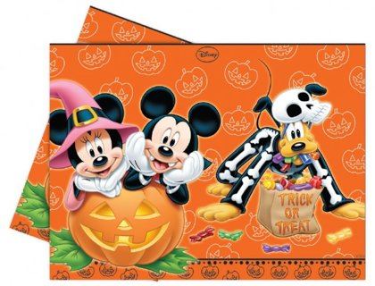 tovaglia plastick 120x180 cm Mickey & Minnie Mouse Halloween