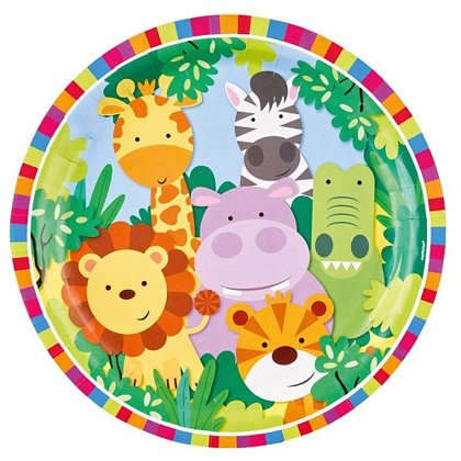 8 piatti 23 cm Jungle animals