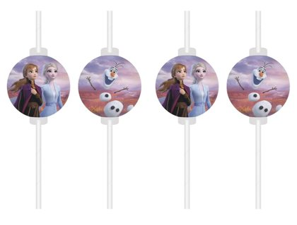 4 Cannucce carta  Frozen 2