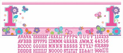 banner happy bday personalizzabile 51x165 cm Sweet Girl