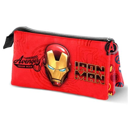 Marvel Iron Man triple pencil case Size: 10x23x5cm