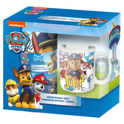 Set Regalo Paw Patrol plaid+tazze