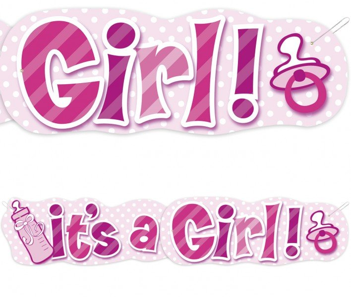 girlande its a girl 1,36m rosa
