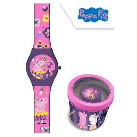 Peppa Pig Orologio Analogico in Metal-Box