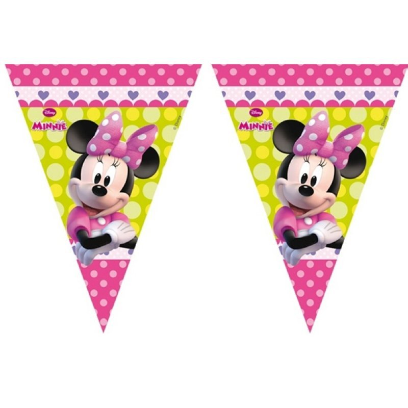 wimpelgirlande 3 m Minnie Mouse