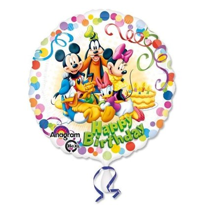Folienballon happybday micheymouse bianco