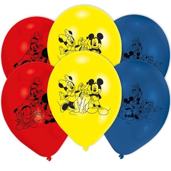 6 Palloncini mickey mouse