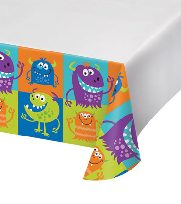 tischdecke plastick 121x223 cm Monster-Party
