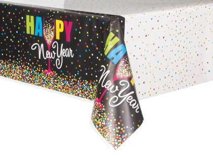tovaglia plastick 137x213 Happy New Year Confetti