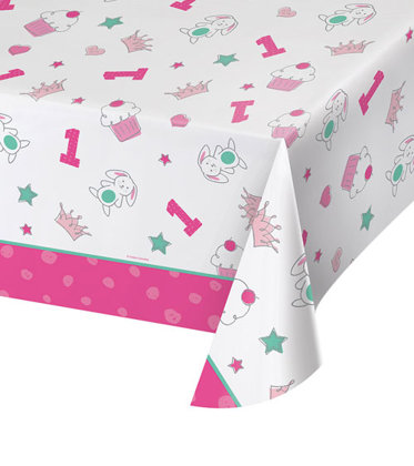 tischdecke 137x259 cm Happy One - pink