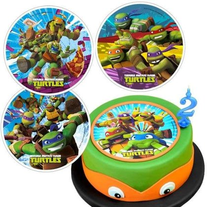 Tortenauflage, Ninja Turtles, Oblate, 20,5cm