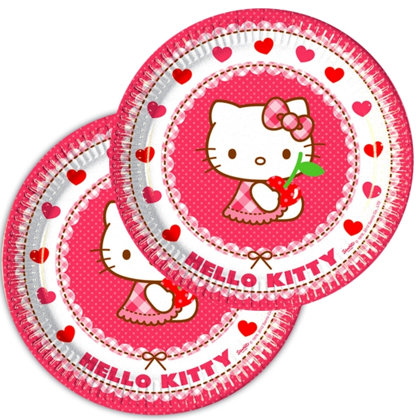 8 piatti 19,5 cm Hello Kitty