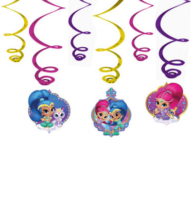 3 girlande tetto Shimmer & Shine