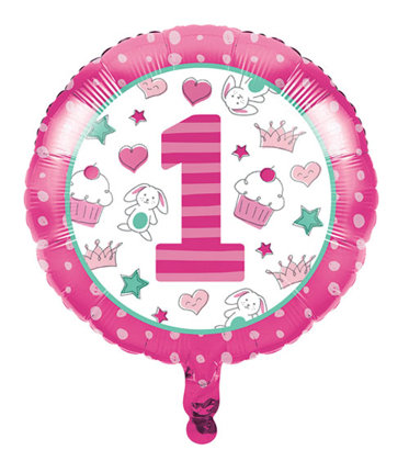 folienballon 45 cm Happy One - pink