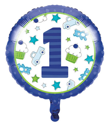 folienballon 45 cm Happy One - blau