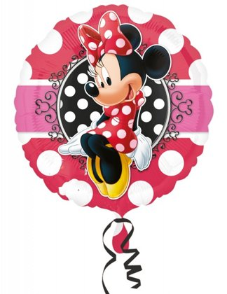 folienballon 39 cm pois minnie mouse
