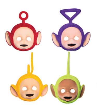 4 maschere Teletubbies