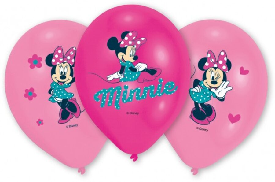 6 palloncini minnie mouse