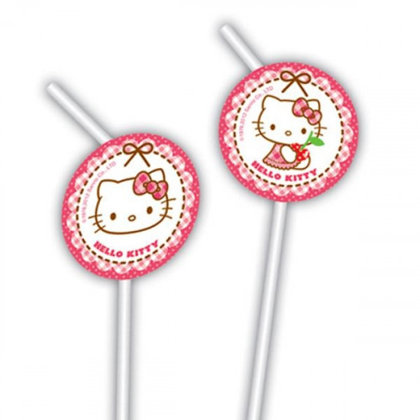 6 trinkhalme Hello Kitty