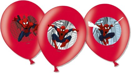 6 palloncini spiderman