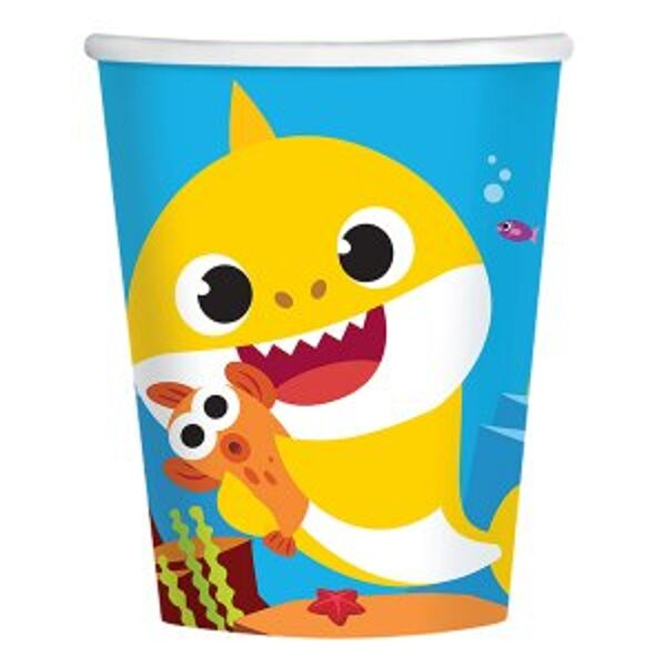 8 becher Baby Shark