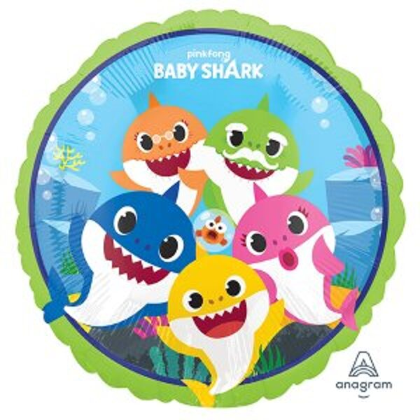 folienballon 45 cm Baby Shark
