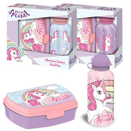 Unicorno Lunchset 2 pz  ass.