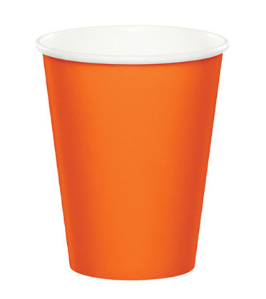 8 becher orange
