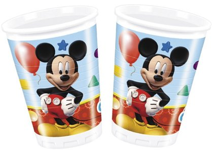 8 Bicchieri mickey mouse