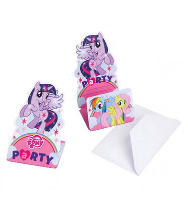 8 inviti con 8 bustine My Little Pony