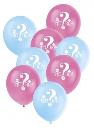 X8 Palloncini Boy or Girl