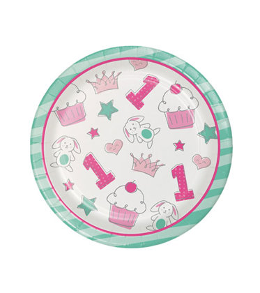 8 piatti 17 cm Happy One - pink