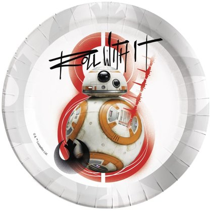 8 piatti 23 cm Star Wars Episode 8  BB8