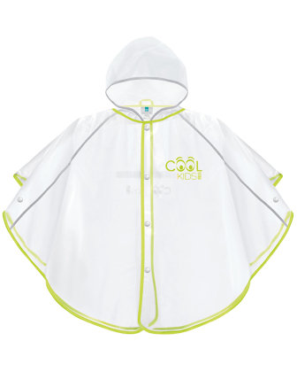Cool Kids poncho impermeabile verde