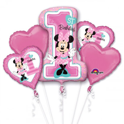 Ballon-Set, 5-pezzi minnie rosa