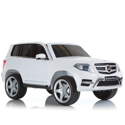 Ride-on Mercedes-Benz GLK 350 bianco 1 batteria 6V - 7Ah inclusa Età 3+