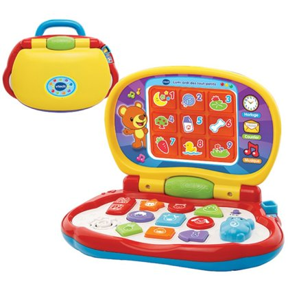 Vtech Explorer Laptop DE Computer portatile colorato all'apprendimento, tedesco 1-3 anni, batterie incluse 2x AA