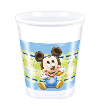 8 Bicchieri baby mickey mouse