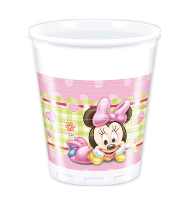 8 Becher baby minnie
