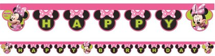 Girlanda HappyBday minnie mouse
