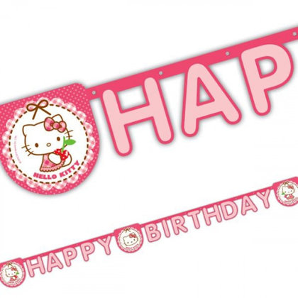 girlande happy bday 2m. Hello Kitty