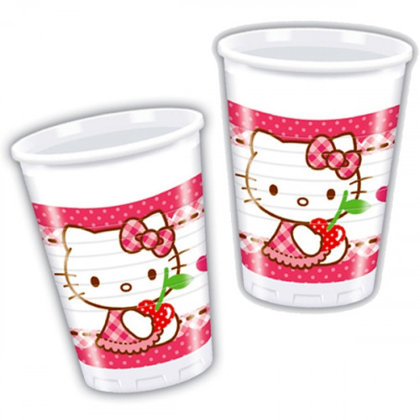 8 becher Hello Kitty