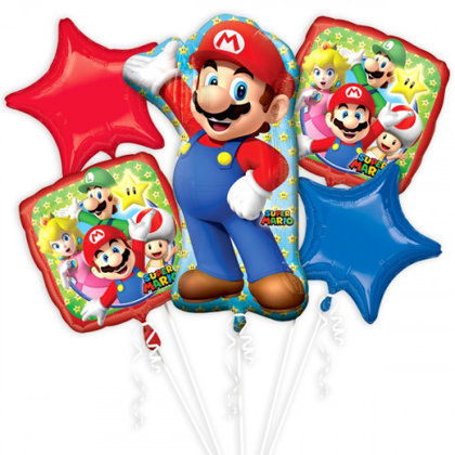 Ballon-Set, 5-pezzi super mario