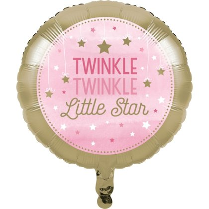 Folienballon littler star rosa