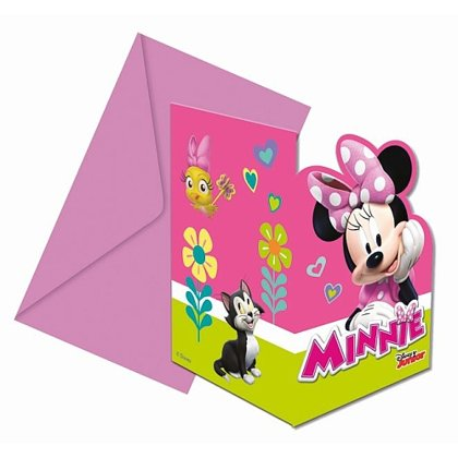 6 inviti con 6 bustine minnie mouse