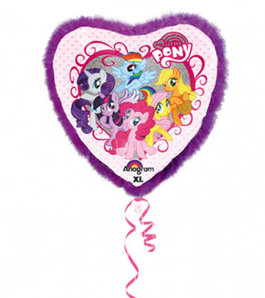 jumbo cuore folienballon 81x81 cm My Little Pony