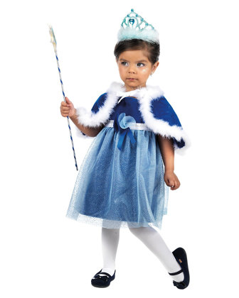 Costume piccola principessina Blu