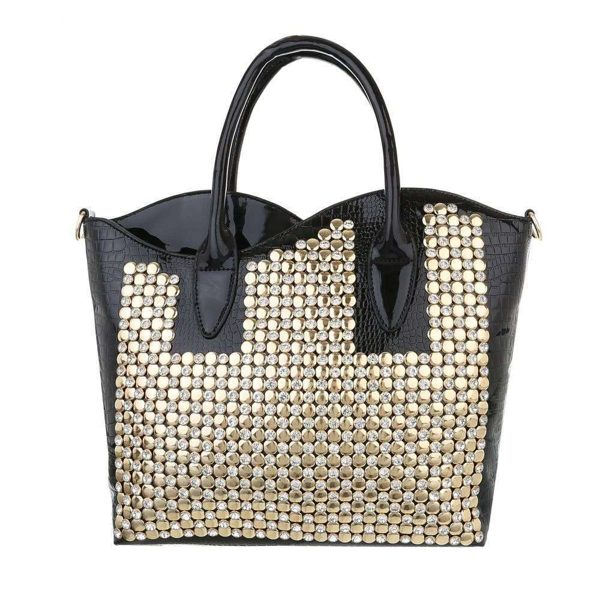 Shopper Bag 35x30 cm con strass