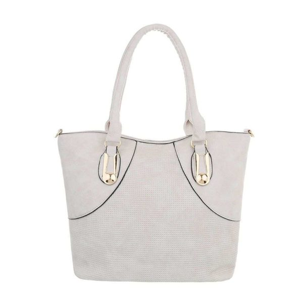 Borsa in beige 31x29 cm con 2 borsette all'interno