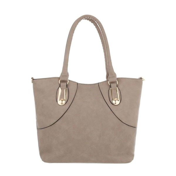 Borsa color khaki 31x29 cm con 2 borsette all'interno